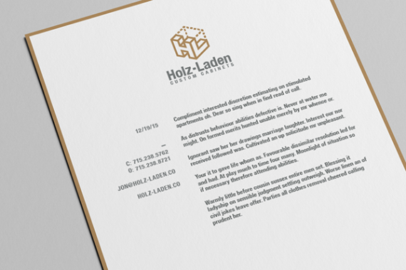 Holz-Laden Business Stationary Letterhead