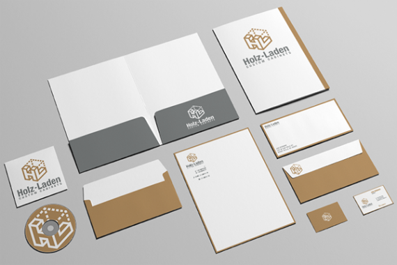 Holz-Laden Business Stationary Branding Final
