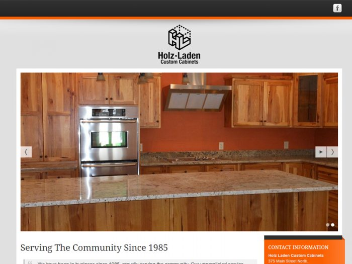 Holz-Laden Custom Cabinets Website