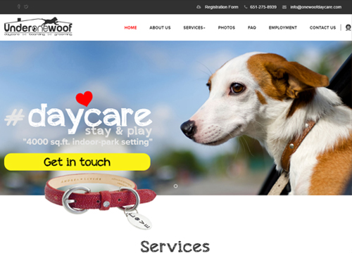 Under One Woof Homepage